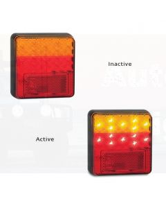 LED Autolamps 100BAR2 Stop/Tail/Indicator & Reflector Combination Lamp (Twin Blister)
