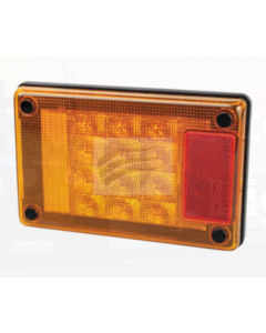 Hella Jumbo Series LED Rear Direction Indicator Lamp 12/24 Volt Horizontal or Veritcal
