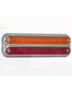 LED Autolamps 235CAR12 Stop/Tail/Indicator Combination Lamp - Chrome (Blister)