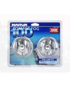 Narva 71860 Compac 100 Fog Lamp Kit 12 Volt 55W 100mm dia Blister Pack