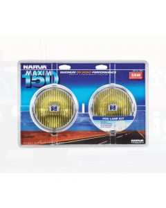 Narva 72220 Maxim 150 Yellow Fog Lamp Kit 12 Volt 55W 150mm dia - Blister Pack