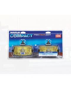 Narva 72240 Ultra Compact Yellow Fog Lamp Kit 12 Volt 55W Rectangular 150 x 85mm