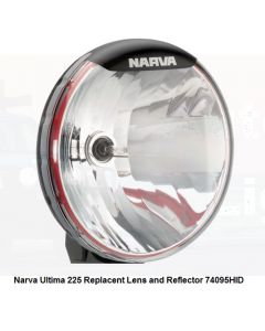 Narva 74095HID Ultima 225 H.I.D Broad Beam Driving Lamp Replacement Lens and Reflector