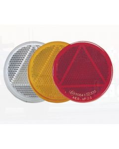 Narva 84006BL Amber Retro Reflector 65mm dia. with Self Adhesive (Blister Pack of 2)