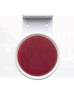 Red Retro Reflector 80mm dia. in Pendant Mount Holder with Dual Fixing Holes (Box of 50)