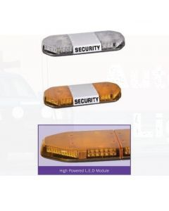 """Narva Amber with Clear Lens LED Light Bar """"Security"""" With Illuminated Opal Centre"""