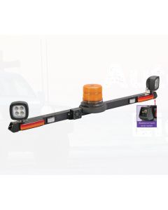 Narva 85084A 12-24V LED Strobe Mine Light Bar with L.E.D Work Lamps (Flood Beam - 1200 Lumen)