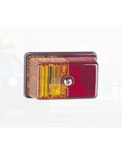 Narva 85880BL Rectangular Side Marker Lamp (Red/Amber) - Blister Pack