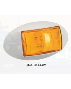 Narva 91444W 10-33 Volt L.E.D Side Direction Indicator Lamp (Amber) with Oval White Deflector Base and 0.5m Cable