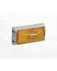 Narva 91506 24 Volt Sealed Side Direction Indicator or External Cabin Lamp Kit (Amber) with Grey Mounting Base