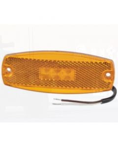 Narva 91700 9-33 Volt L.E.D Side Marker Lamp (Amber) with In-built Retro Reflector and 0.5m Cable