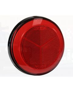 Narva 94304 Red Retro Reflector with 130mm Black Base