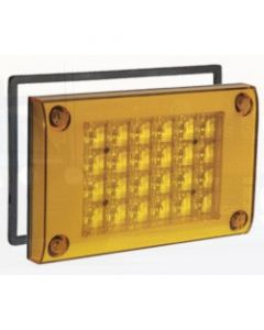 Narva 94800 9-33 Volt L.E.D Rear Direction Indicator Lamp (Amber) with 0.5m Cable, Retro-fit Gasket and Security Caps