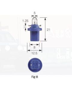 Narva Dash Panel Globe 12V, 1.2W, BX8.5d Blue Base (Box of 10)