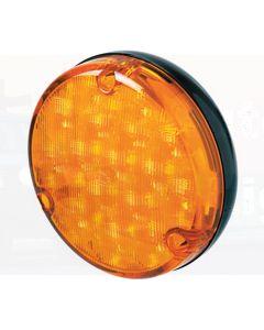 Hella 500 Series LED Front Direction Indicator - Amber, Black Housing (2135LED)