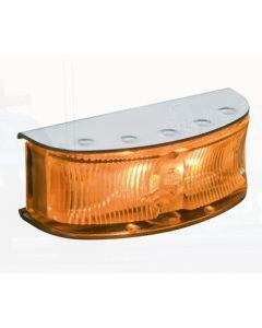 Hella HD LED Supplementary Side Direction Indicator or Cab Marker - Amber Illuminated, Polished S/S Housing (2027P)