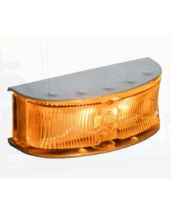 Hella HD LED Supplementary Side Direction Indicator or Cab Marker - Amber Illuminated, Satin S/S Housing (Pack of 4) (2027BULK)
