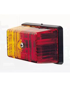 Hella 2042 Side Marker Lamp - Red / Amber, 12V