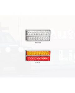 LED Autolamps 200CCARM Stop/Tail/Indicator Double Combination Lamp - Chrome (Blister)