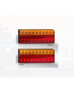 LED Autolamps 275AR Stop/Tail/Indicator/Reflector Combination Lamp (Single Blister)