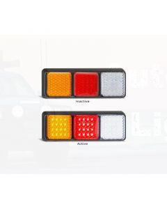 LED Autolamps 282ARWMB Stop/Tail/Indicator/Reverse Combination Lamp (Bulk)