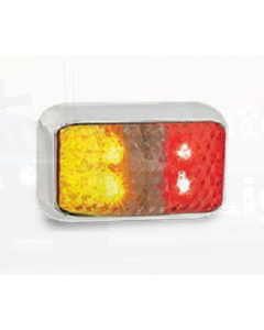 LED Autolamps 35CARMB Red/Amber Side Marker with Chrome Bracket (Bulk Poly Bag)