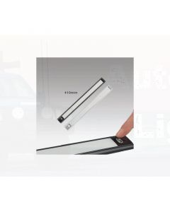 LED Autolamps 40410S Interior Strip Lamp with  On/Off Touch Switch - Silver, 410mm, 12V (Single Blister)