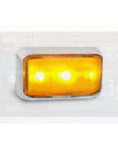 LED Autolamps 58CAM Side Direction Indicator with Chrome Bracket (Blister Single)