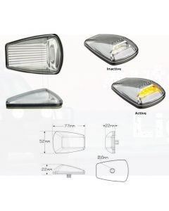 LED Autolamps 77ACMB-LCRUISER70 9-32V Clear to Amber Side Direction Indicator with Toyota Plug