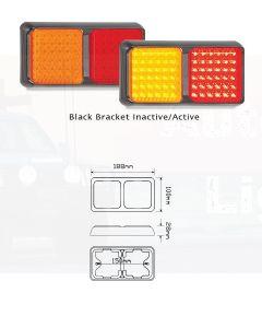 LED Autolamps 80BARM Double Series Stop/Tail/Indicator Combination Lamp - Multivolt (Blister Single)