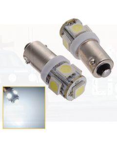 LED BA9s 5x5050 SMD Globe (White)