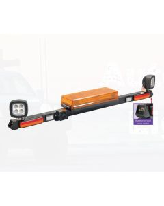 12/24 Volt L.E.D Light Box Mine Bar - 1.2m with L.E.D Work Lamps (Flood Beam - 1200 Lumen) Without Reversing Alarm