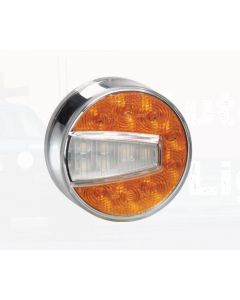 Narva 95004 12 Volt L.E.D Front Direction Indicator and Front Position Lamp (Amber/White) with 0.5m Hard-Wired Cable (LH)