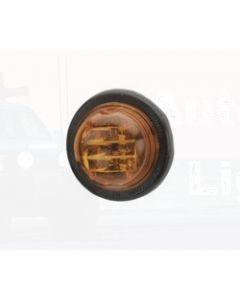 Narva 12 Volt L.E.D Side Direction Indicator or External Cabin Lamp (Amber) with Vinyl Grommet (93044)