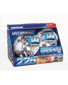 Narva 71670HID Ultima 225 H.I.D Broad Beam Driving Lamp Kit 12 Volt 50W with L.E.D Position Light, 225mm dia Blister Pack