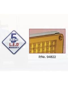 Narva 94822 9-33 Volt L.E.D Rear Direction Indicator Lamp (Amber) with 0.5m Cable, White Housing and Security Caps