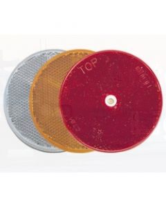 Narva 84022BL Red Retro Reflector 80mm dia. with Central Fixing Hole (Blister Pack of 2)