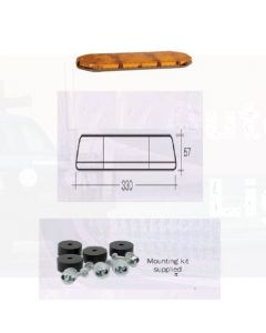 """Narva Legion 12 Volt 0.9m (36"""") Light Bar (Amber) with 12 L.E.D Modules (85020A)"""