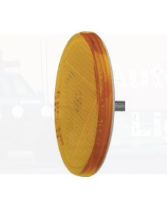 Amber Retro Reflector 65mm dia. with Fixing Bolt (Box of 50)