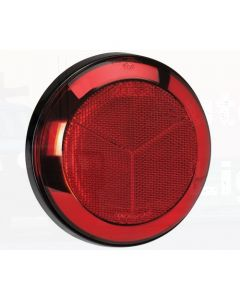 Narva 94309 Red Retro Reflector with Chrome Ring and 130mm Black Base