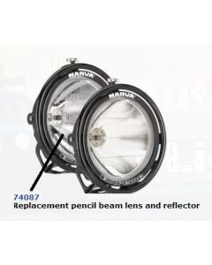 Narva 74087 Extreme Pencil Beam Driving Lamp Replacement Lens and Reflector