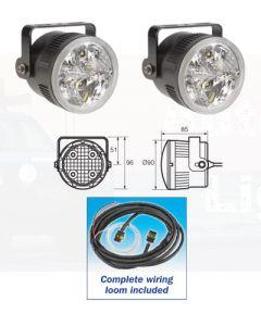 Narva 71930 9-33V L.E.D Daytime Running Lamp Kit with Adjustable Bracket