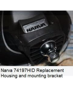 Narva 74197HID Replacement Housing and mounting bracket to suit Ultima 225 HID with LED