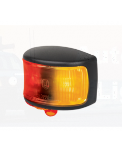 Hella LED Side Marker Lamp Amber/Red 12/24V Black Base with Deutsch