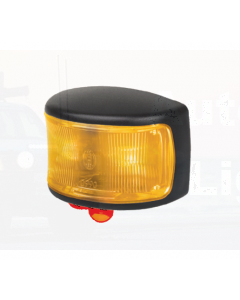 Hella LED Supplementary Side Marker Lamp Amber 12/4V CAB Marker Black