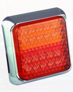LED Autolamps 80CSTIM Stop/Tail & Indicator Combination Lamp - Chrome (Blister Single)