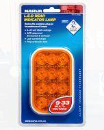 Narva 94528BL 9-33 Volt L.E.D Rear Direction Indicator Lamp Only (Amber) - Blister Pack