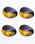 Hella 2026BULK Pack of 4 Amber Illuminated DuraLed Cab Marker or Supplementary Side Direction Indicator