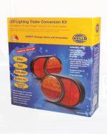 Hella 2399-TP Round LED Trailer Lamp Kit 1224V DC