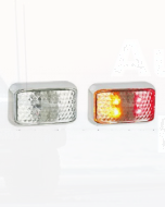 LED Autolamps 35CCARM Red/Amber Side Marker with Chrome Bracket